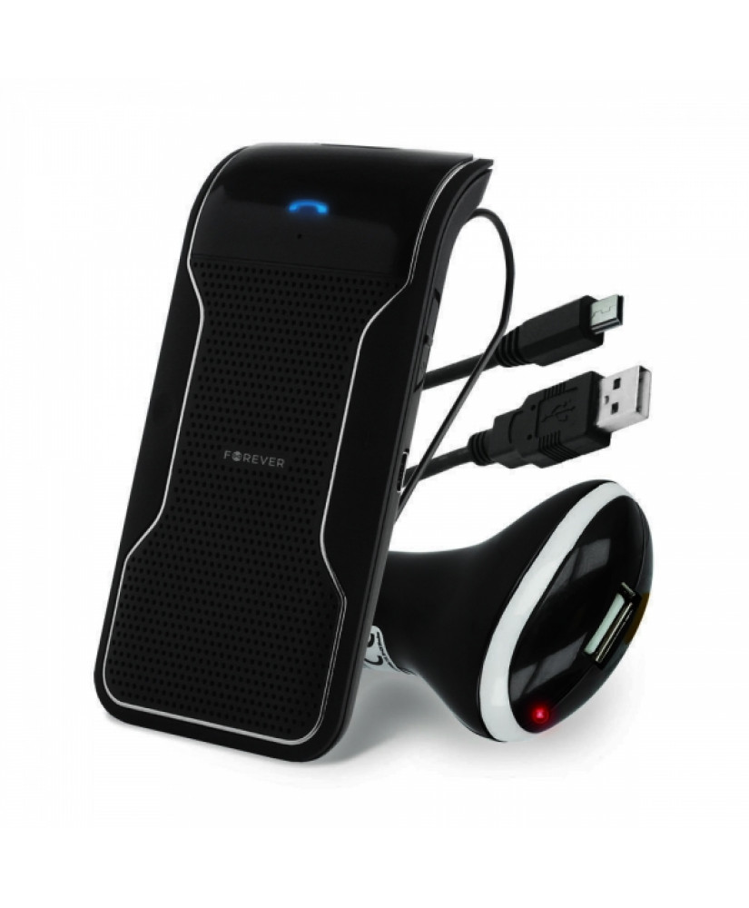 FOREVER BK-100 BLUETOOTH CARKIT + CHARGER black