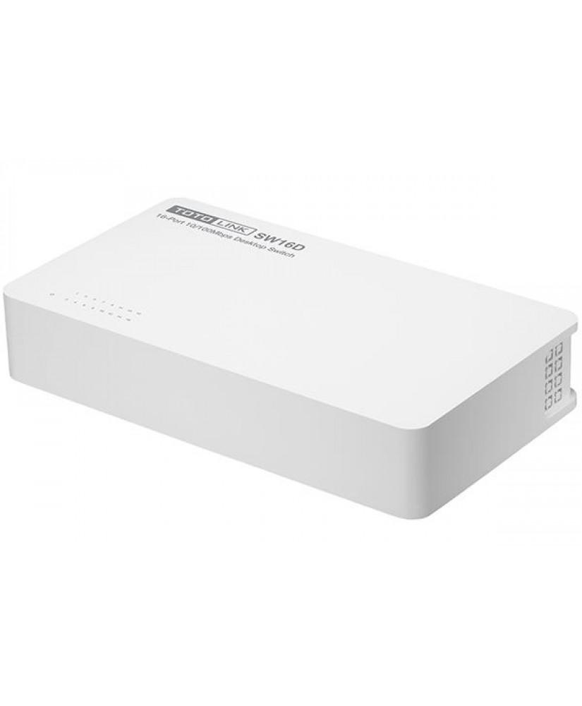 TOTOLINK 16-Port 10/100Mbps Desktop Switch