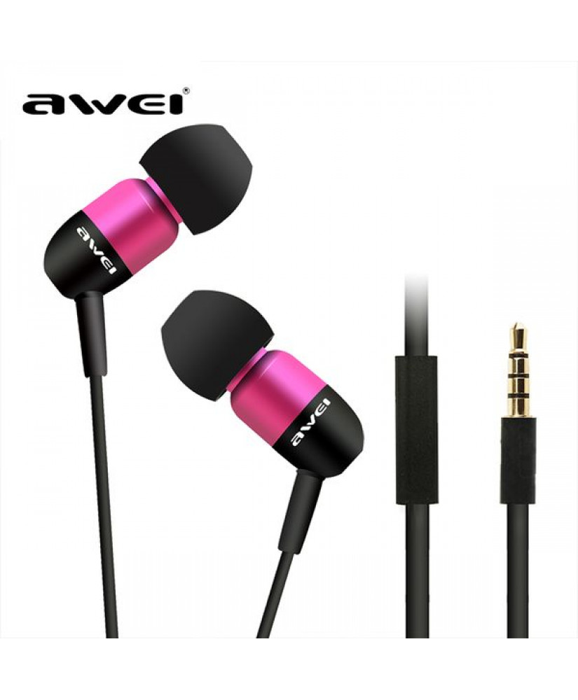 AWEI ΑΚΟΥΣΤΙΚΑ Q8I CAPSULE WIRED IN-EAR HEADPHONES ΡΟΖ