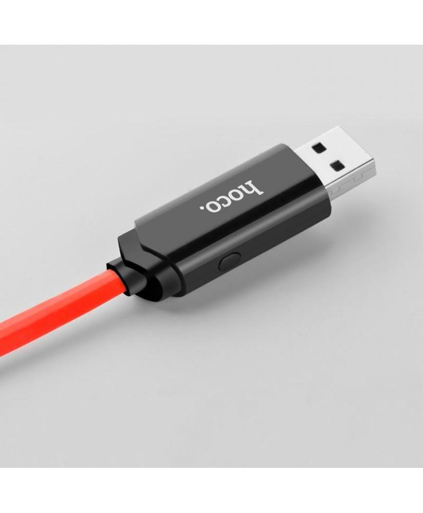 HOCO U29 ΚΑΛΩΔΙΟ ΜΕ ΟΘΟΝΗ MICRO USB ΦΟΡΤΙΣΗΣ & DATA 1.2m, RED