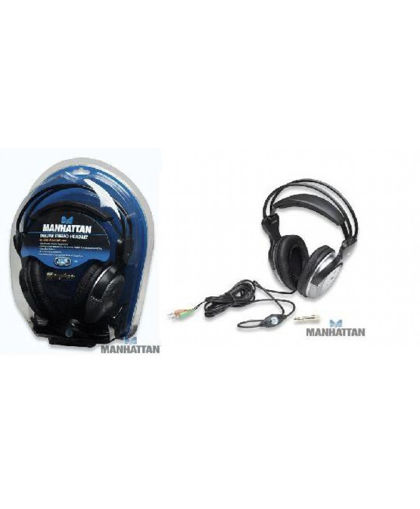 Deluxe ΑΚΟΥΣΤΙΚΑ Stereo Headset In-Line Volume Control (ΜΝ-7931)