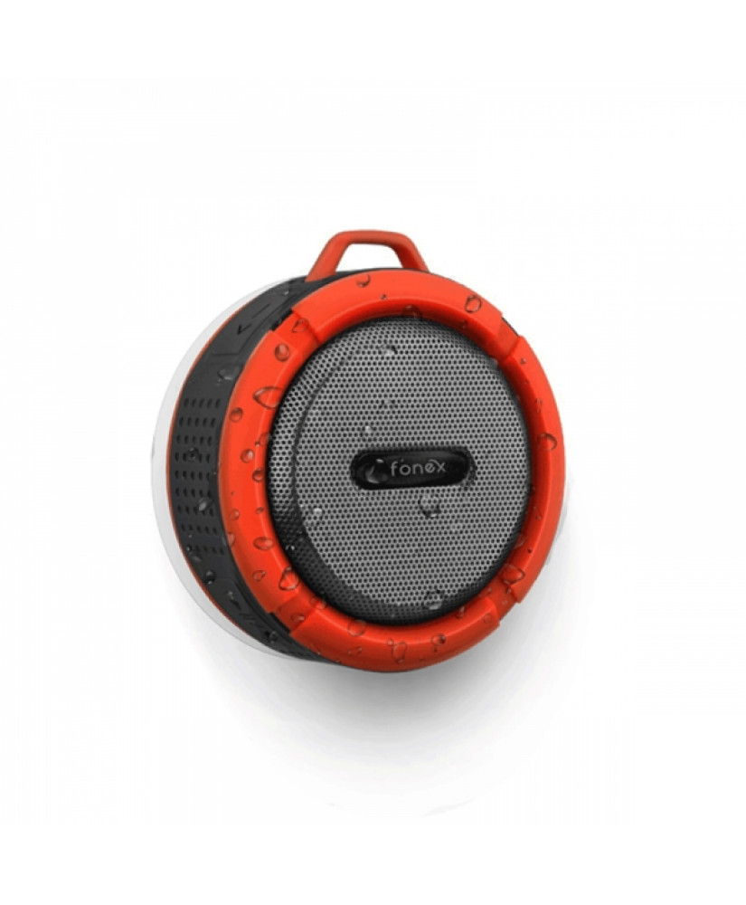 FONEX PORTABLE SPEAKER WITH BLUETOOTH red