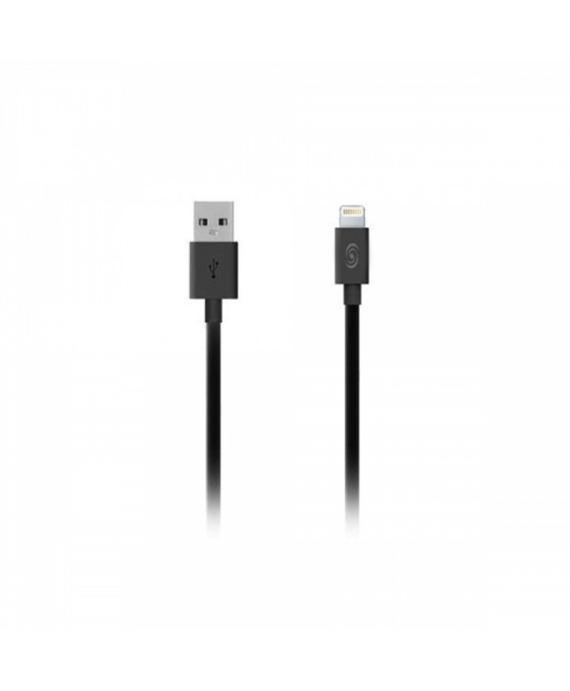 FONEX DATA CABLE LIGHTNING SPEED CHARGE 2.4A 1m black