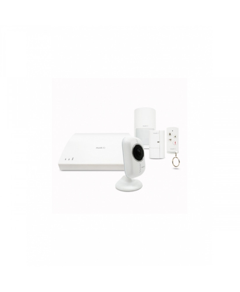 MUVIT IO SECURITY SYSTEM PACK (1 Hub, 1 Motion Sens, 1 Contact Sens, 1 Remote Control, 1 Cam)