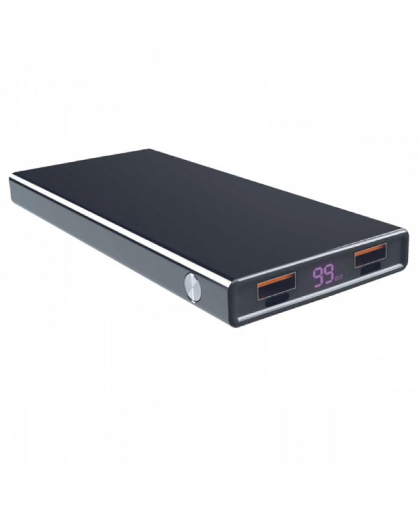 Ksix POWER BANK UNIVERSAL 10000mAh QC 3.0 18W + TYPE C CABLE black