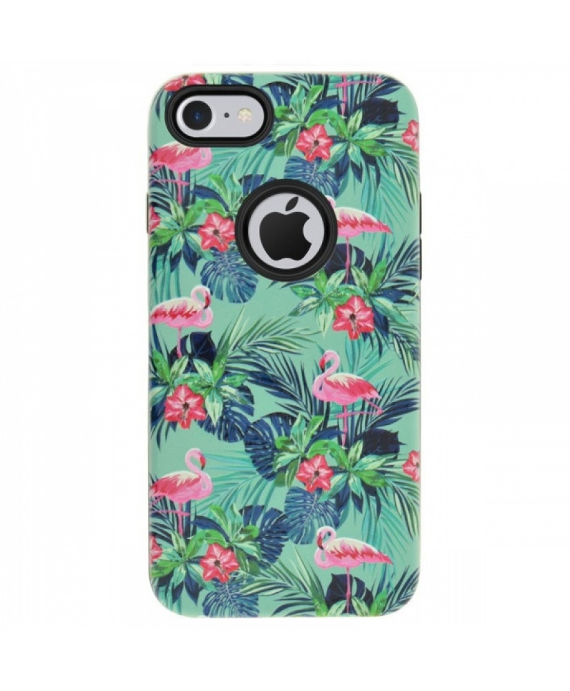4OK FLAMINGO IPHONE 7 green backcover