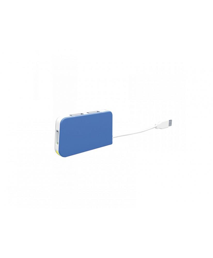 APPROX USB 4 Ports Travel Hub USB 2.0 blue