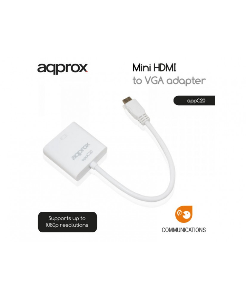APPROX ΑΝΤΑΠΤΟΡΑΣ MINI HDMI to VGA