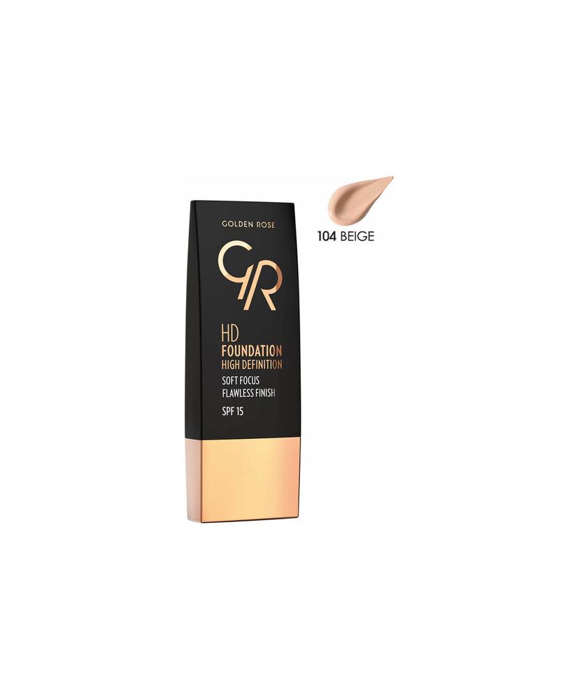 GOLDEN ROSE GR HD FOUNDATION NO:104 SPF15 30ml