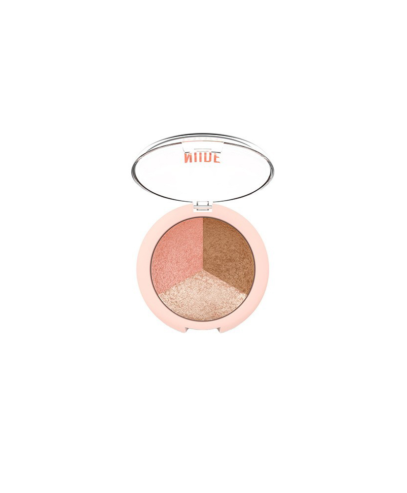 GOLDEN ROSE NUDE LOOK BAKED TRIO FACE POWDER 9.5gr