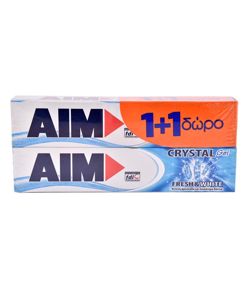 AIM ΟΔΟΝΤΟΚΡΕΜΑ CRYSTAL GEL 75ML 1+1 ΔΩΡΟ