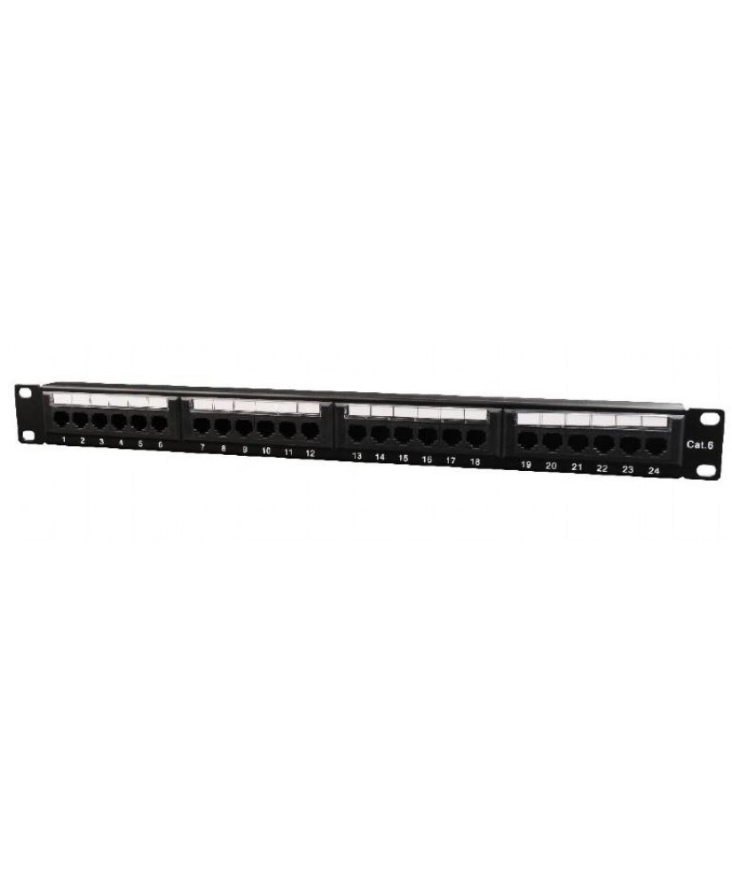 GEMBIRD Patch Panel  Cat.6 24 port with rear cable management