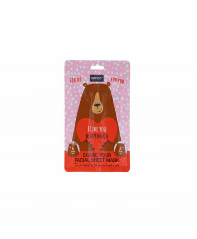 SENCE ΜΑΣΚΑ ΠΡΟΣΩΠΟΥ ANIMAL I LIKE YOU BEARY MUCH 2 x 25ML