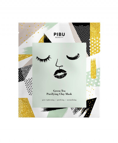 PIBU GREEN TEA PURIFYING CLAY MASK 18gr