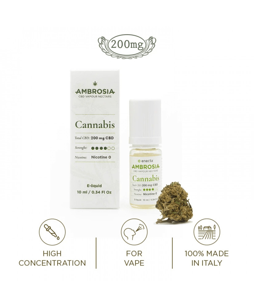 AMBROSIA CANNABIS VAPE LIQUID CBD 10ML 200mg